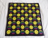 SIMLEY FACE RAINBOW PEACE SIGN BANDANA